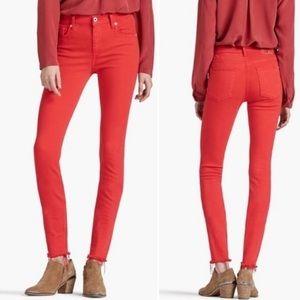 Lucky Brand Jeans Bridgette Skinny Distressed Fray